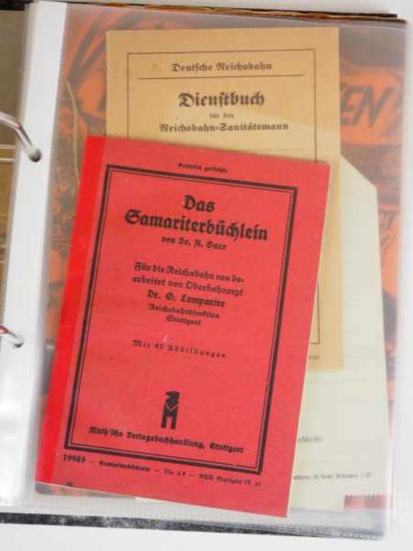 0.1.) Eisenbahn / Bergbau Eisenbahn - Ordner Dokumente.Ausweise, Fotos, Broschüren etc.Zustand: II - Bild 5 aus 6