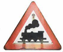 0.1.) Eisenbahn / Bergbau Eisenbahn - Unbeschrankter Bahnübergang.Original, gebrauchter Zustand.