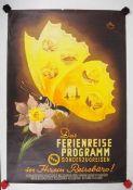 0.2.) Emailschilder / Werbeplakate Plakat: Eisenbahn - Das Ferienreise Programm der Sonderzug.