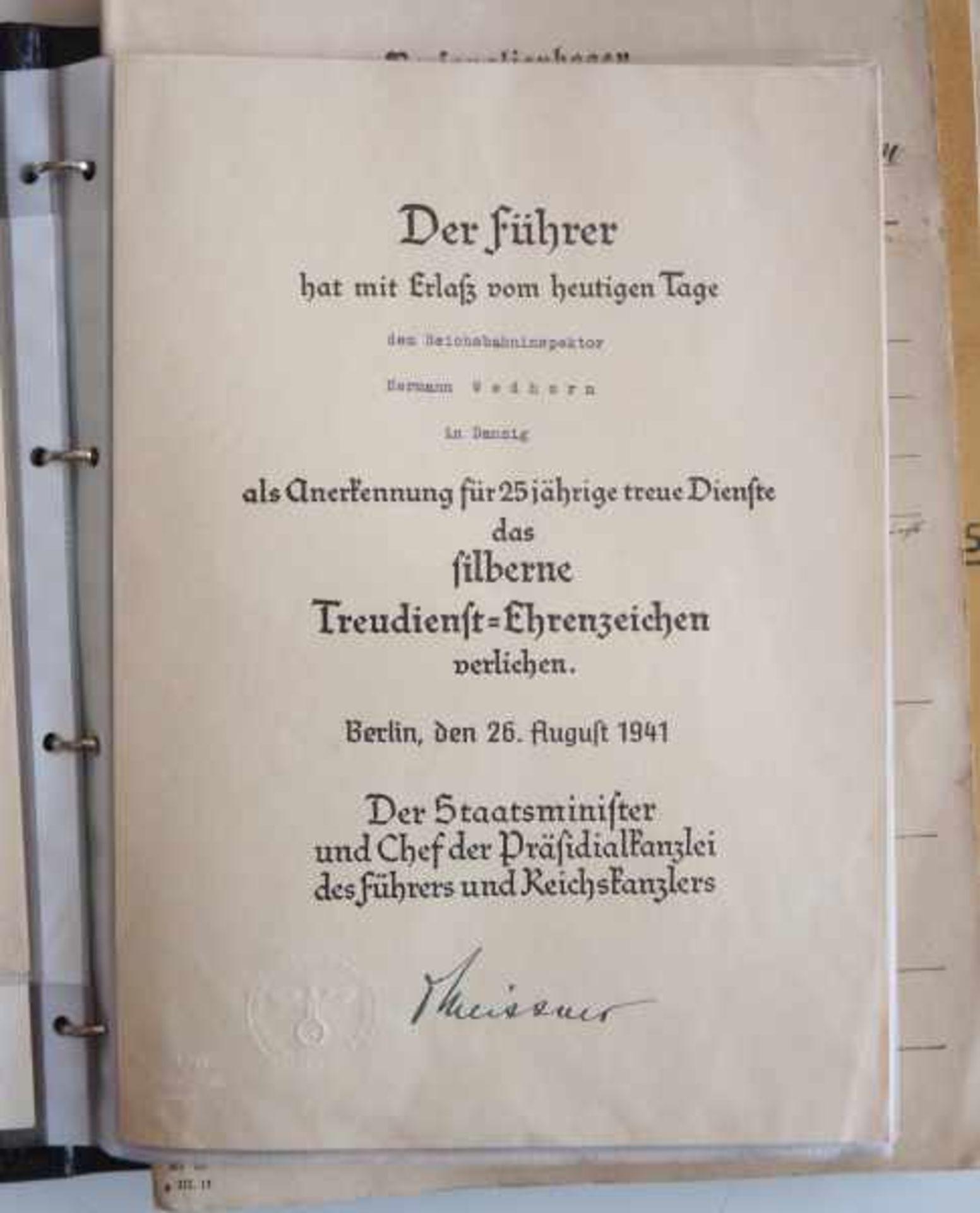 0.1.) Eisenbahn / Bergbau Eisenbahn - Umfangreicher Nachlass eines Eisenbahners aus Danzig.Sehr - Bild 8 aus 11