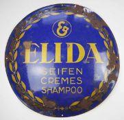 0.2.) Emailschilder / Werbeplakate Emailschild - Elida Seifen, Cremes und Shampoo.Stärkere