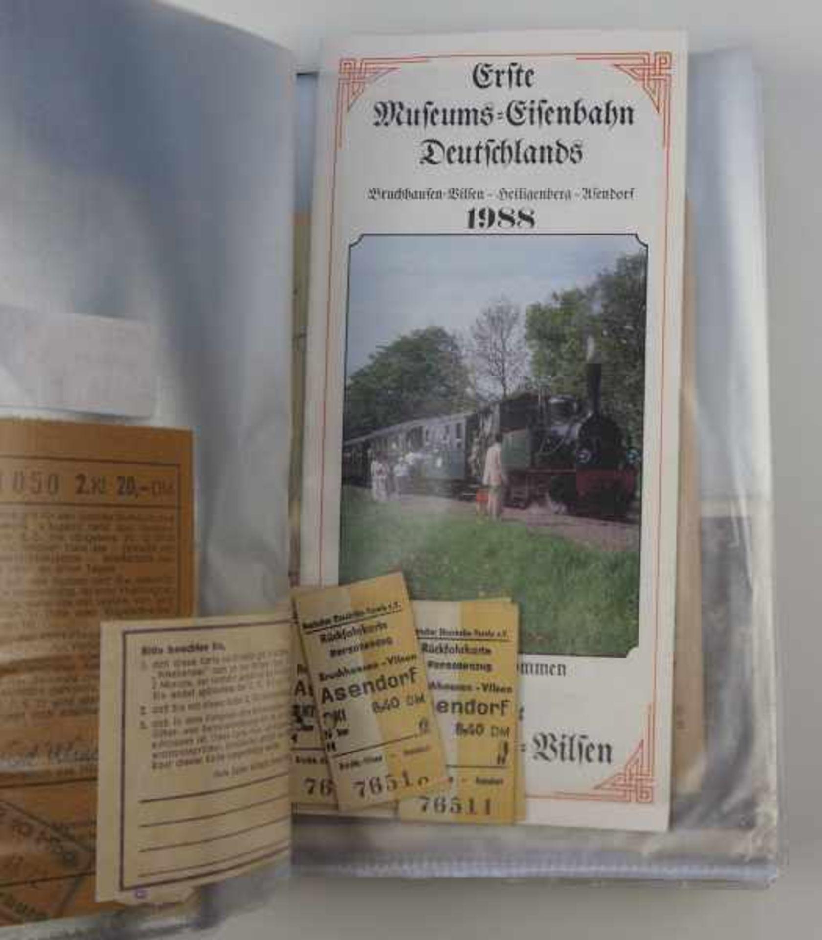 0.1.) Eisenbahn / Bergbau Eisenbahn - Ordner Dokumente.Broschüren, Ausweise, Postkarten etc.Zustand: - Bild 3 aus 5