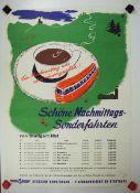 0.2.) Emailschilder / Werbeplakate Plakat: Eisenbahn - Schöne Nachmittags Sonderfahrten von