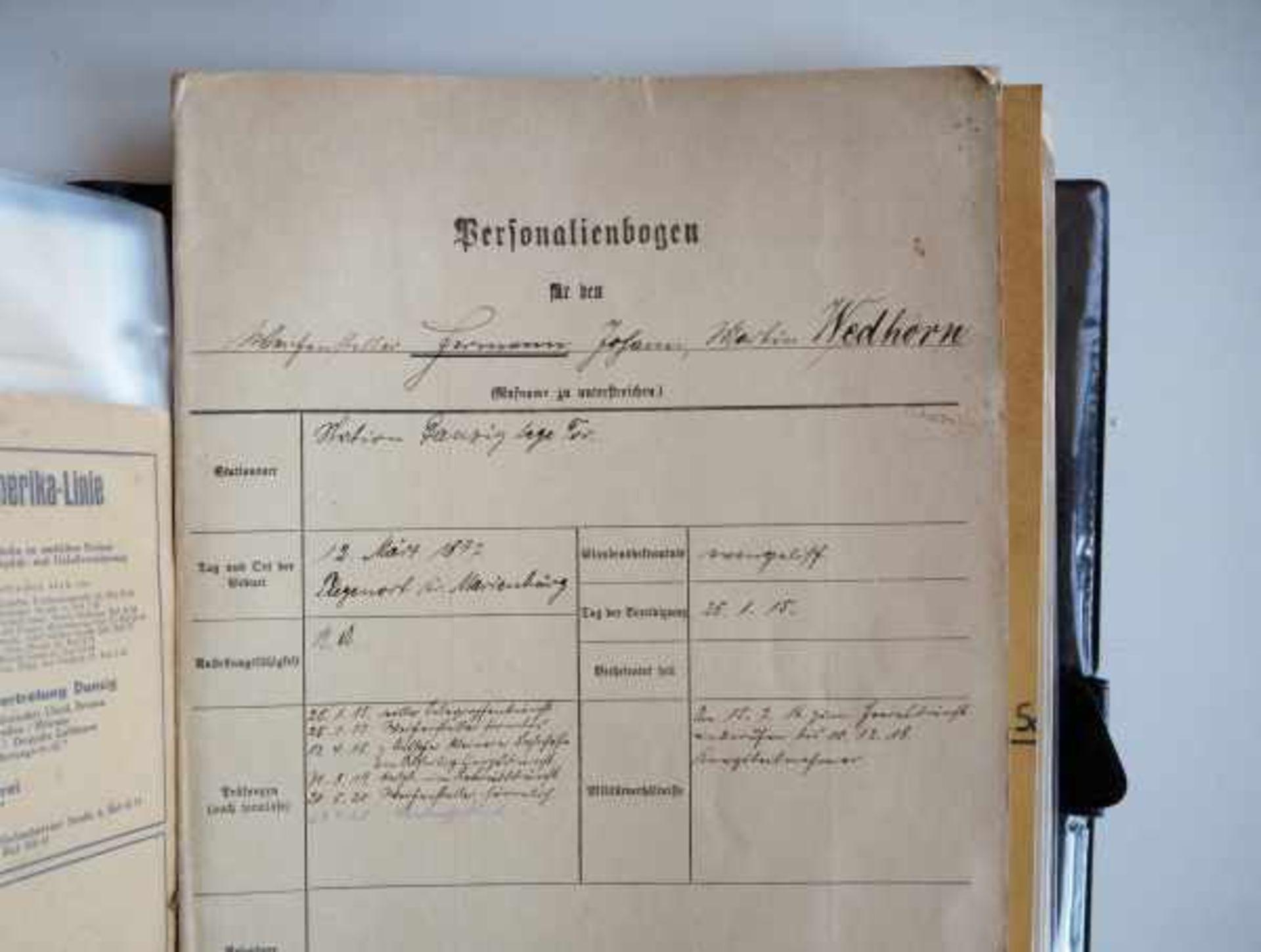 0.1.) Eisenbahn / Bergbau Eisenbahn - Umfangreicher Nachlass eines Eisenbahners aus Danzig.Sehr - Bild 4 aus 11