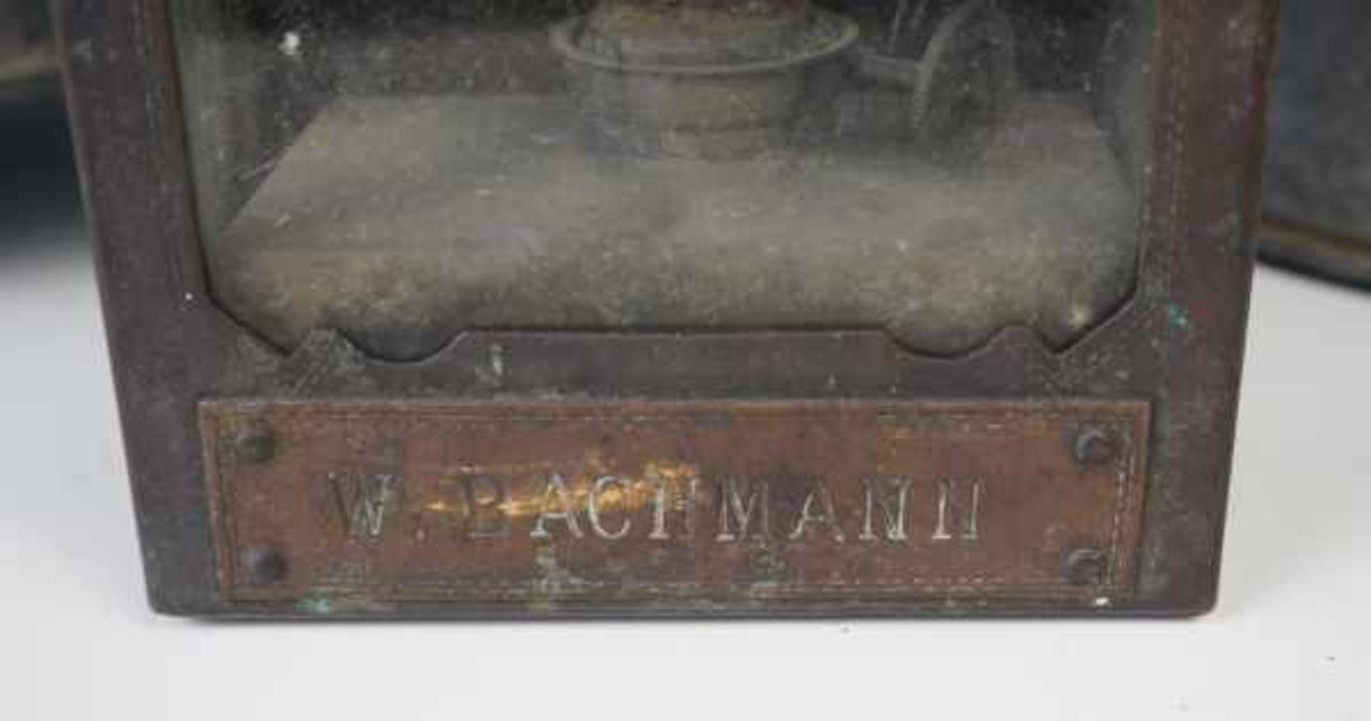 0.1.) Eisenbahn / Bergbau Eisenbahn - 2 Große Bahnsteiglaternen.Je Metallgehäuse, Höhe ca. 45 cm; - Bild 2 aus 2
