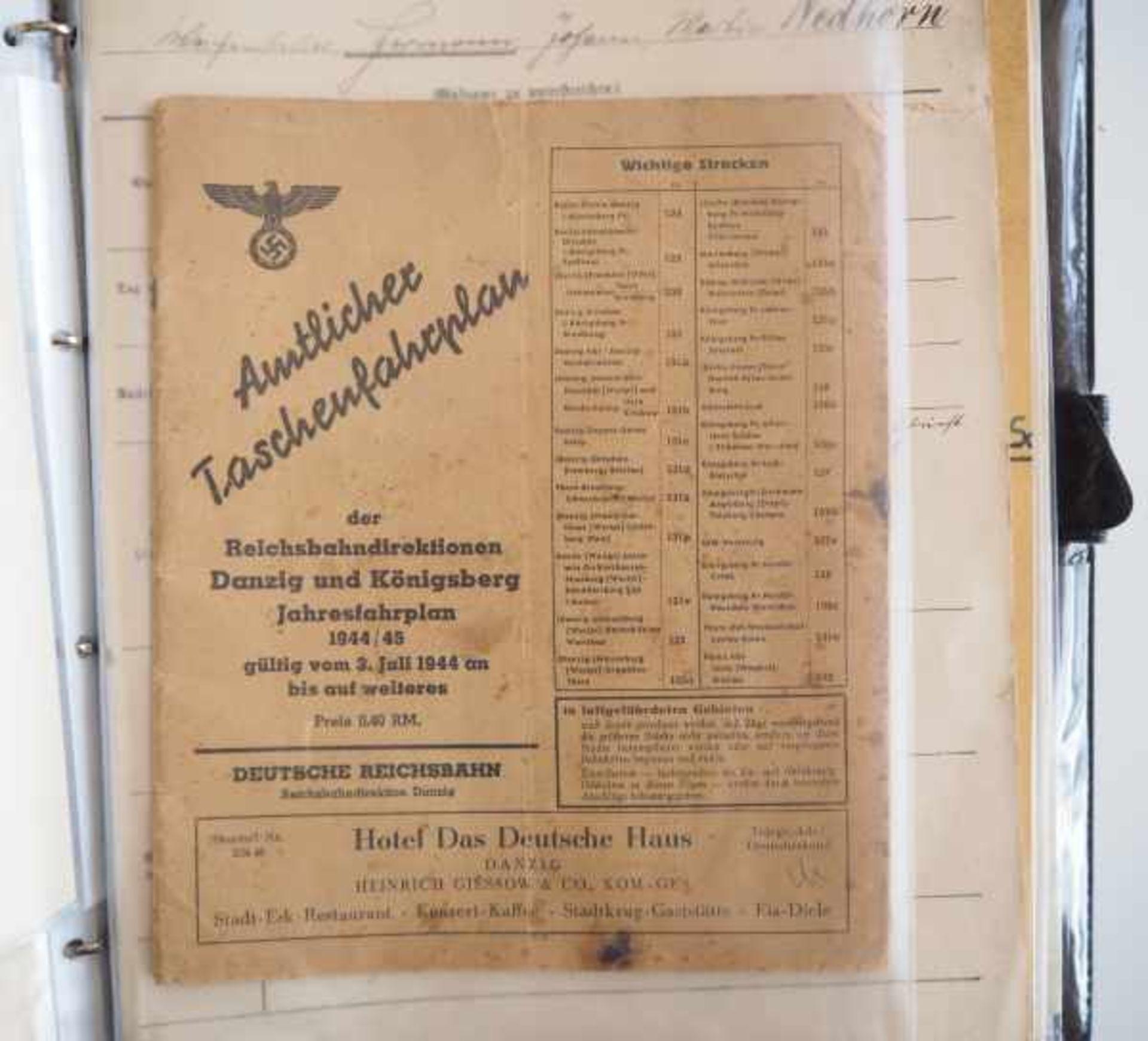 0.1.) Eisenbahn / Bergbau Eisenbahn - Umfangreicher Nachlass eines Eisenbahners aus Danzig.Sehr - Bild 5 aus 11