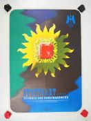 0.2.) Emailschilder / Werbeplakate Plakat: Stuttgart zeigt Schmuck und Kunsthandwerk.Mehrfarbig, ca.