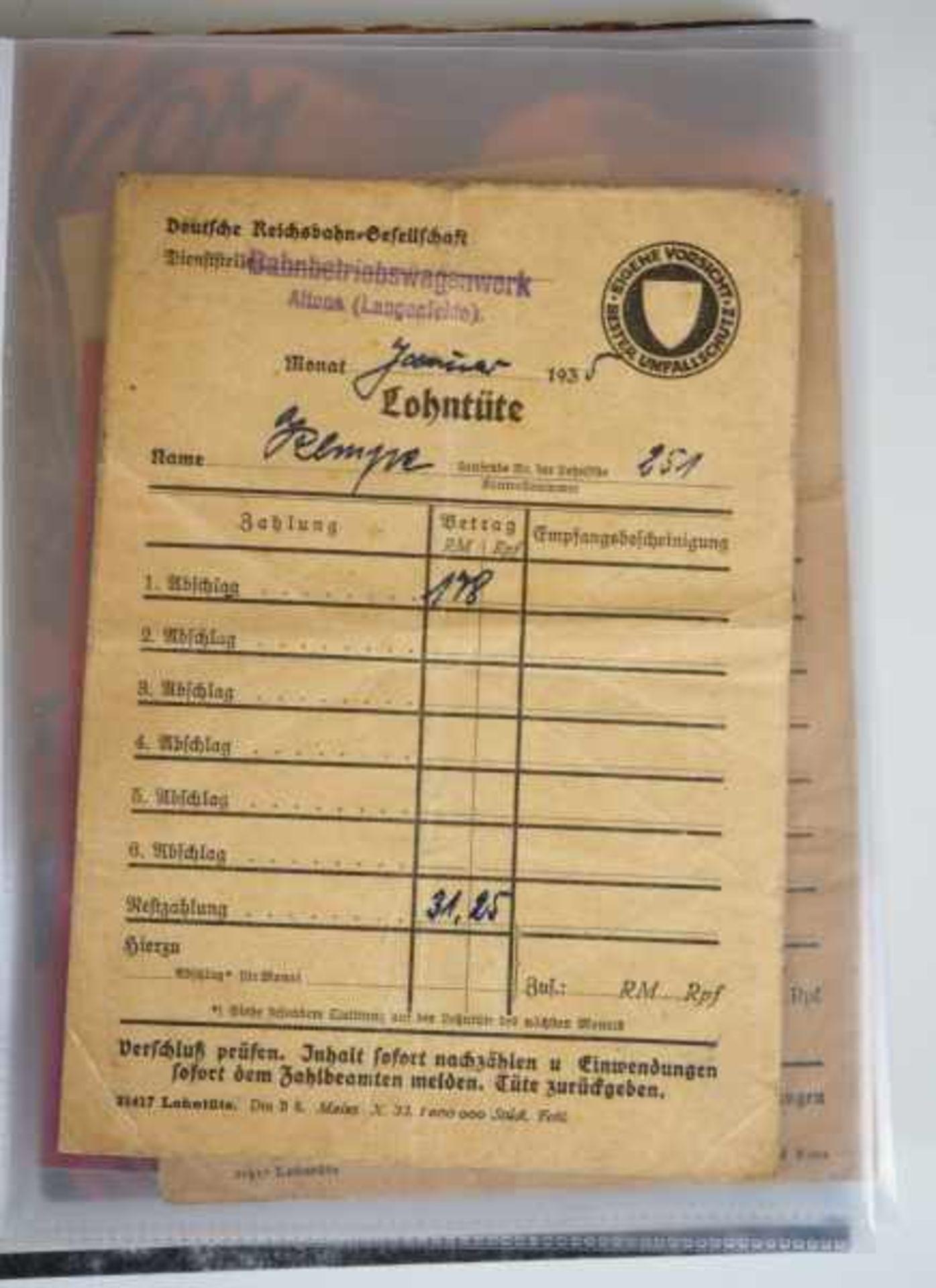 0.1.) Eisenbahn / Bergbau Eisenbahn - Ordner Dokumente.Ausweise, Fotos, Broschüren etc.Zustand: II - Bild 4 aus 6