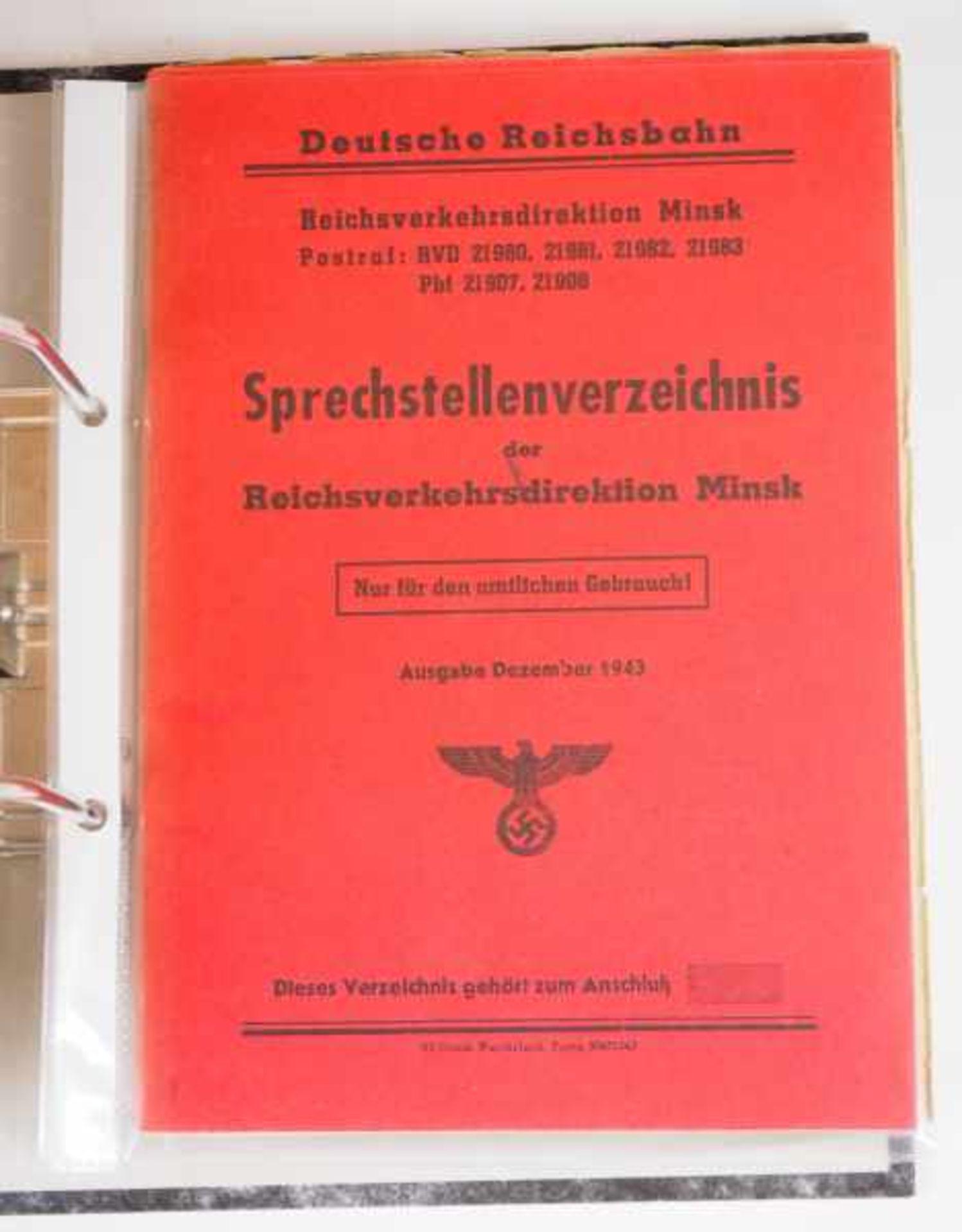 0.1.) Eisenbahn / Bergbau Eisenbahn - Ordner Dokumente.Ausweise, Fotos, Broschüren etc.Zustand: II - Bild 6 aus 6