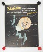 0.2.) Emailschilder / Werbeplakate Plakat: Eisenbahn - Sichere Güter und Expressgutbeförderung durch