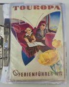 0.1.) Eisenbahn / Bergbau Eisenbahn - Ordner Dokumente.Broschüren, Ausweise, Postkarten etc.Zustand: