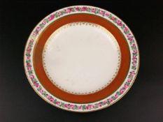 Porzellanteller - Alt Wien,Kaiserliche Porzellanmanufaktur/Sorgenthalperiode, Jahresbuchstabe 802 (