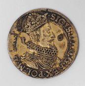1/4 Taler, Danzig, dat.1623 Sigismund III. von Polen, 1587-1632. Kleines Bohrloch. Gew. ca. 7g.