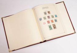 Briefmarkenalbum Französische Zone von 1945 bis 1949. Besichtigung wird empfohlen.