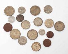 Konvolut Silbermünzen Deutsche Reichsmark etc. Gesamtgew. ca. 122g. Dazu drei Meissener