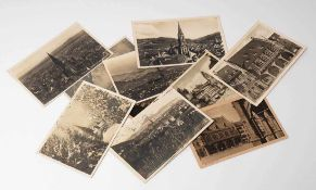 Zehn Postkarten, Freiburg Unterschiedliche Motive und Epochen, teilweise 20er Jahre.