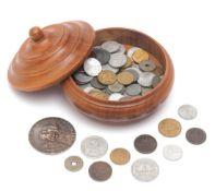 89 div. Münzen, 1851-1970 Interessantes Konvolut, die Besichtigung wird empfohlen