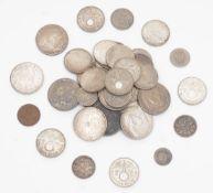Konvolut Münzen Teilweise Silber (unterschiedliche Legierungen, Gesamtgewicht der Silbermünzen ca.