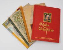 Vier Zigarettenbilderdienst-Alben Deutsche Stadtwappen (Kosmos), Aus Wald und Flur (Bahrenfeld),