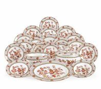 A Wedgwood Golden Cockerel bone china dinner service comprising: 24 dinner plates, 12 soup plates,