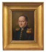 Francesco Podesti Portrait of General Millefiorini oil on canvas, 31,5by24cm. Ancona 1800 - Roma