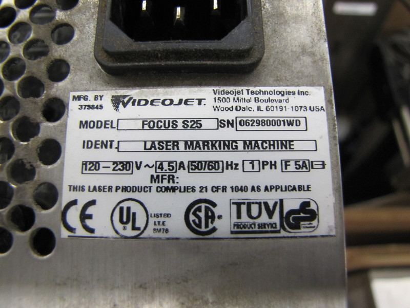 Lot 51 - Video Jet Focus S25 Laser Coder