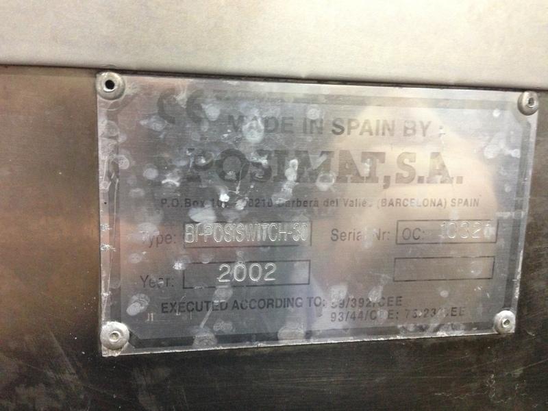 Lot 32 - Posimat High Speed Compact Unscrambler, Year 2002
