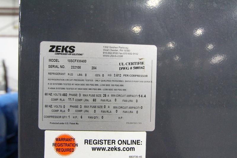 Lot 52 - Zeks Air Dryer, Year 2004