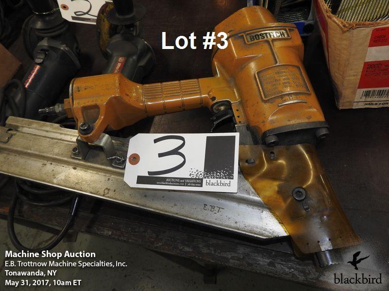 Lot 3 - Bostitch model N80 clipped head nailer