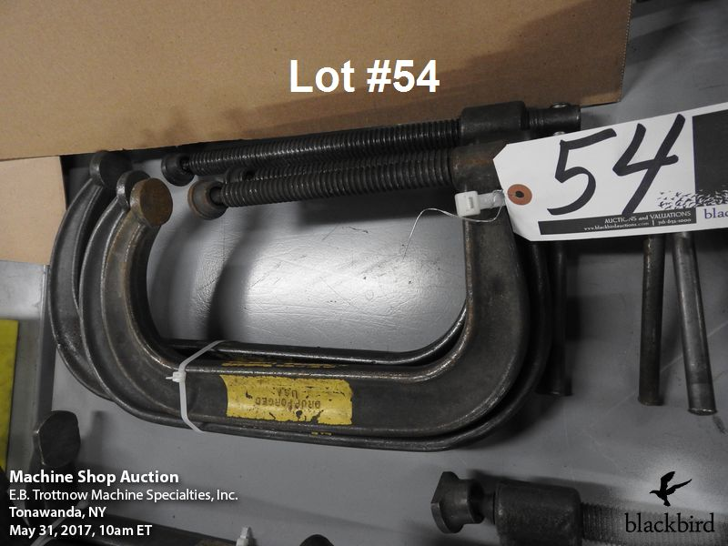 """Lot 54 - (3) Armstrong """"C"""" clamp 12"""", 10"""" and 8"""""""