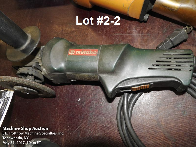 Lot 2 - Lot- Bosch #1706AE angle grinder and Metabo angle grind