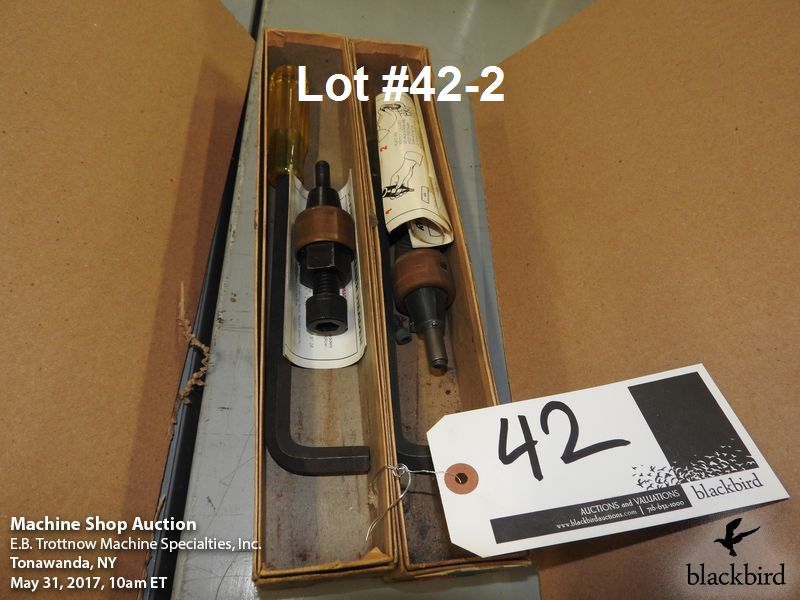 Lot 42 - Lot- (2) Rivnut fasteners and (6) Osborne hole punches