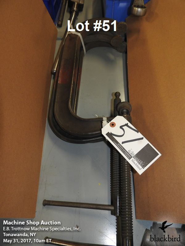 """Lot 51 - (3) Armstrong 12"""" """"C"""" clamps"""
