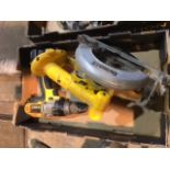 Dewalt 18v cordless circular saw and Drill/hammer drill