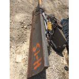 Grouser 1300 hydraulic push blade for Skidloader