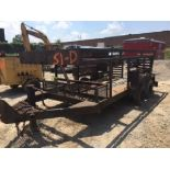 """11'3"""" x 6'4"""" steel form trailer. Tandem mobile home axles. Removable cross members for machinery..."""
