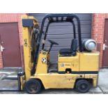 "Cat 5000lb 158"" lift Side shift Automatic LPG Newer tires"