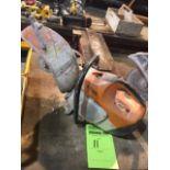 Stihl TS420 concrete cut off saw. (Pull start/retractor line stuck)