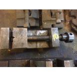 smaller machinest vise. Hand crank/an handle