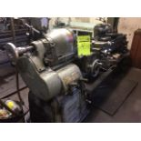 """South Bend Lathe #16, 60"""" bed, 3 jaw chuck, 4 jaw chuck, collet adapter, steady rest, Aloris tool."""