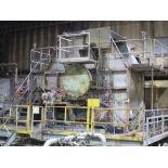 Pre heating boiler with disc screen unit, subject to bulk bid lot 392 and entirety bid lot 100