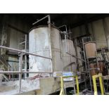 [Lot] Stainless storage tanks for Kymene, with associated pumps, approx 6'D x 8'H, subject to bulk
