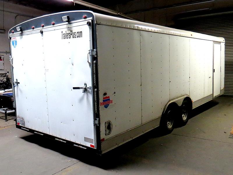 Lot 3 - 2010 Interstate Kingman 24' Auto Transport Box Trailer, Tandem Axle, Bumper Pull Hitch, Model: