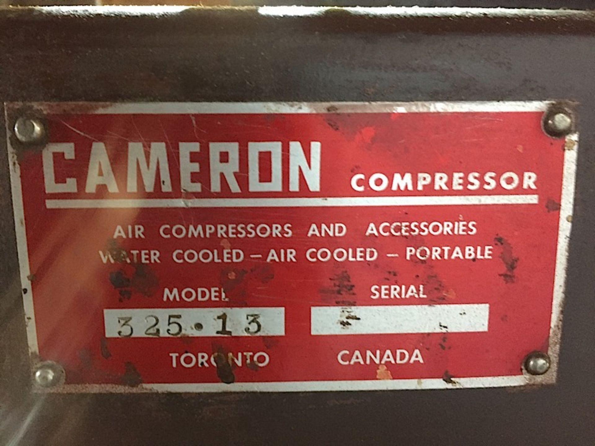 CAMERON 5HP AIR COMPRESSOR - 600V 3 PHASE - Image 4 of 4