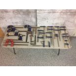 LOT OF CLAMPS