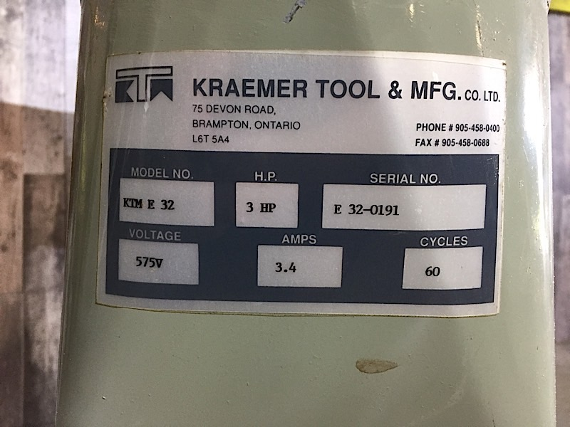 Lot 48 - KRAEMAR DUST COLLECTION 3HP BLOWER