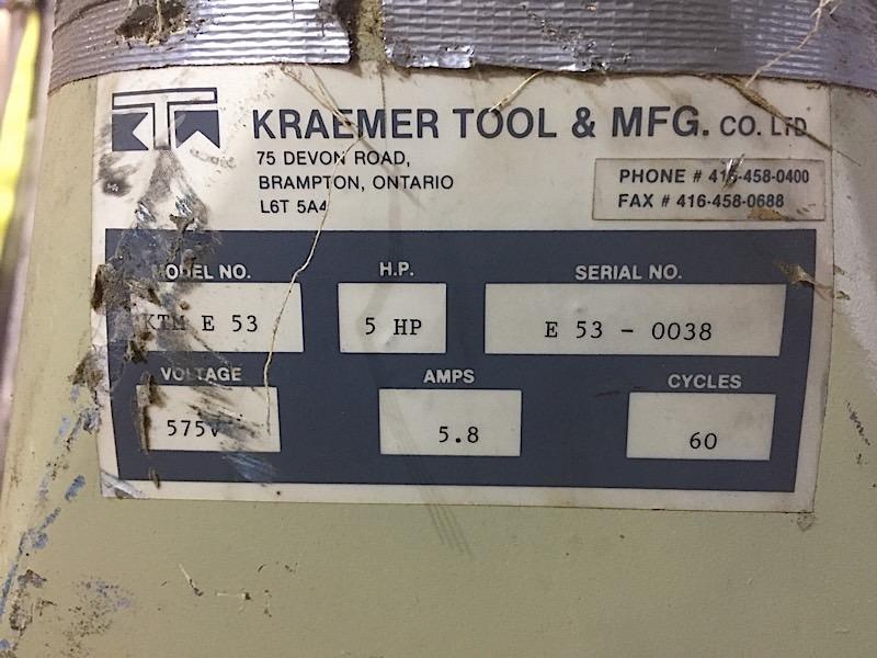 Lot 35 - KRAEMER DUST COLLECTION 5HP BLOWER