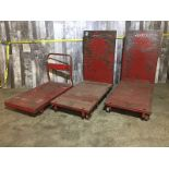 LOT OF 3 HEAVY DUTY RED CARTS