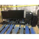 1 ACER COMPUTER MONITOR, 1 SAMSUNG COMPUTER MONITOR, 2 KEYBOARDS, 2 MICE, 1 LENOVO THINKCENTRE