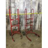 LOT OF 2 RED TIRE DOLLIES